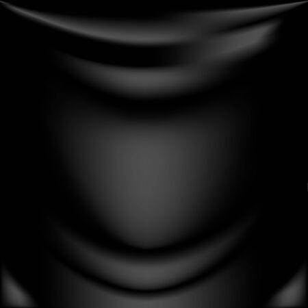 silk fabric: La textura de la tela de seda negro Vectores