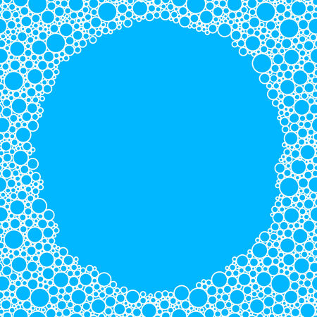 bubles: Blue background with white bubles   Illustration