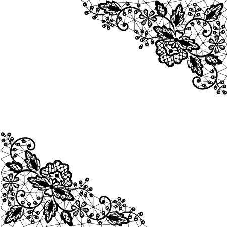 Invitación, boda o tarjeta de felicitación con la frontera del cordón Ilustración de vector