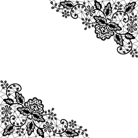 lingerie: Invitation, wedding or greeting card with lace border