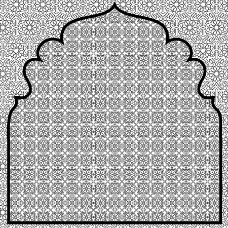islamic pattern: Arabian background with net pattern  Islamic card