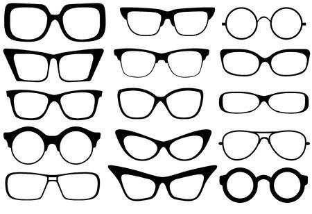 with sets of elements: Set of modern fashion glasses  Vector illustration  Illustration