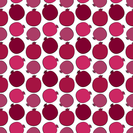 Seamless background with pomegranate pattern.  Illustration