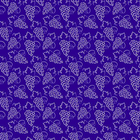 Seamless background with grapes pattern.