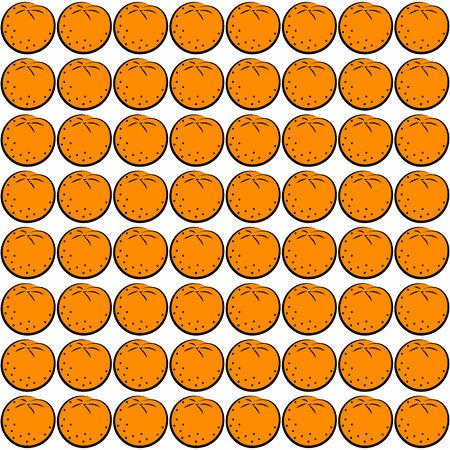 orange pattern: Seamless background with orange pattern illustration