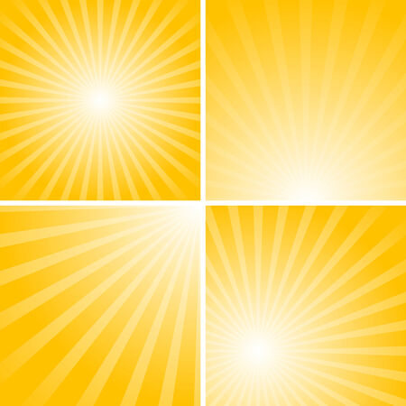 Set of striped backgrounds with yellow stripes Vector