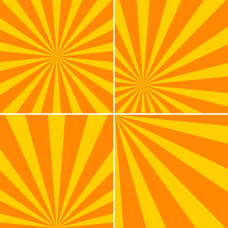 Set of striped backgrounds with yellow stripes Illustration