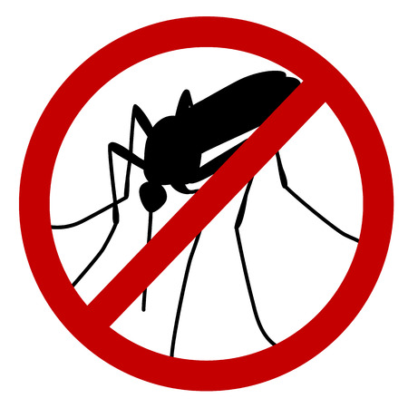 No mosquito sign, stop mosquito sign isolated on white Vector