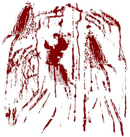 blood splatter: Blood spots isolated on white. Vector illustration Illustration