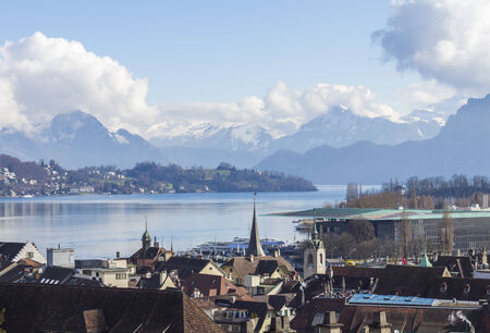 Luzern City View from city walls, Switzerland photo