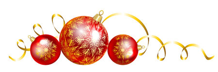 laying: Laying Christmas baubles isolated on white background Illustration