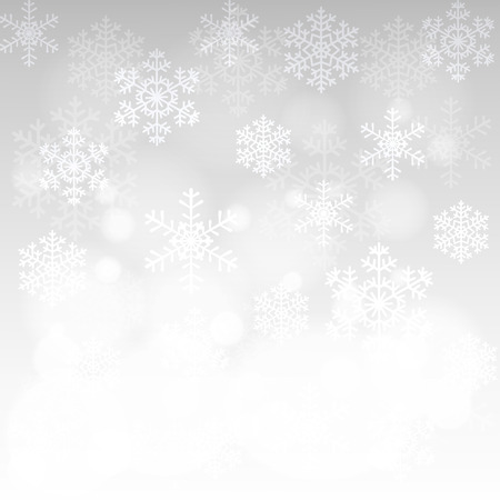 Christmas card with glowing snowflakes and bokeh Stock Illustratie
