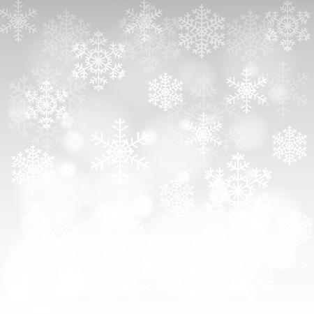 fondo para tarjetas: Tarjeta de Navidad con copos de nieve brillantes y bokeh