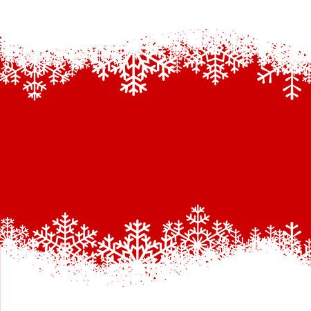 Carte de Noël avec des flocons de neige frontière sur fond rouge Banque d'images - 33879986