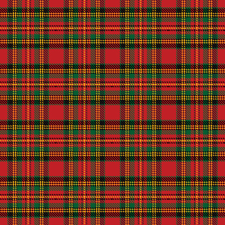 scottish: Seamless background with red scottish tartan pattern