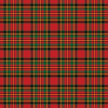 christmas plaid: Seamless background with red scottish tartan pattern