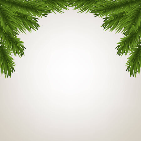 fir twig: Fir tree branches frame for Christmas decoration