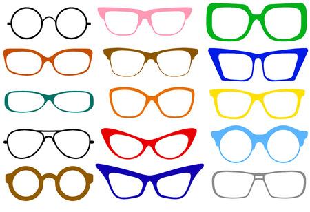 유행의 다른 현대 눈 안경 세트