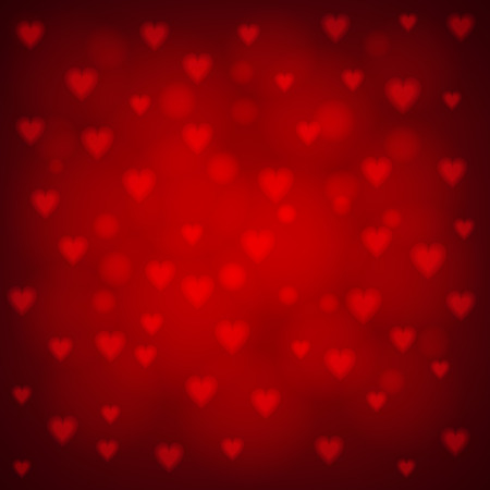 shiny hearts: Red background with shiny hearts for St. Valentine