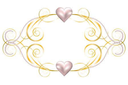Achtergrond met sieraden frame voor bruiloft of Valentines kaart