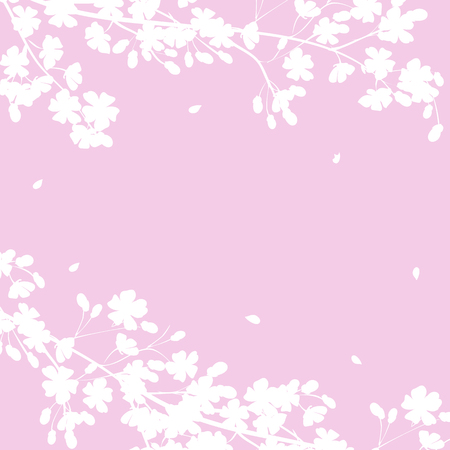 apple border: Spring background with blooming tree branches frame