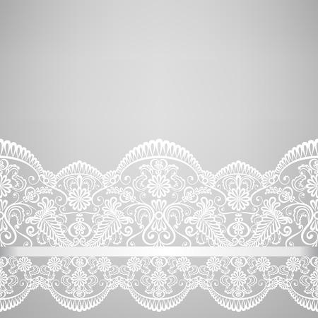 Bruiloft uitnodiging of wenskaart met kanten rand