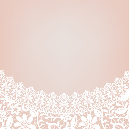 bridal dress: Card with decollete of white lace bridal dress
