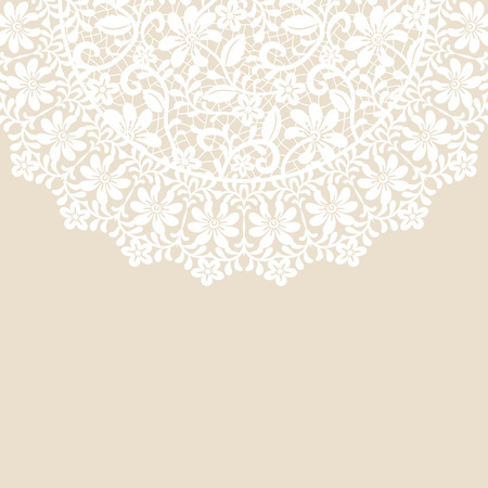 lace doily: Wedding invitation or greeting card with lace border