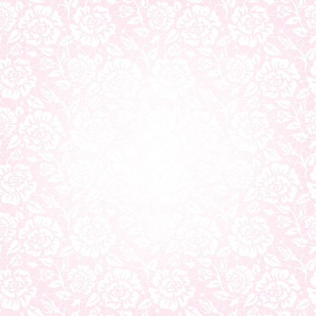 detail invitation: Template for wedding, invitation or greeting card with white lace frame on pink background