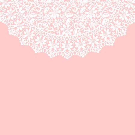 encajes: Invitaci�n de la boda o tarjeta de felicitaci�n con el cord�n fronterizo