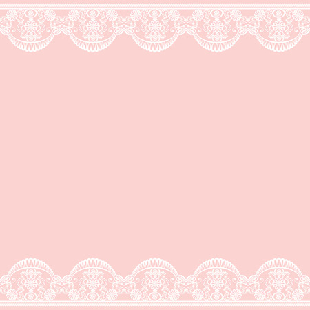 Wedding invitation or greeting card with lace border