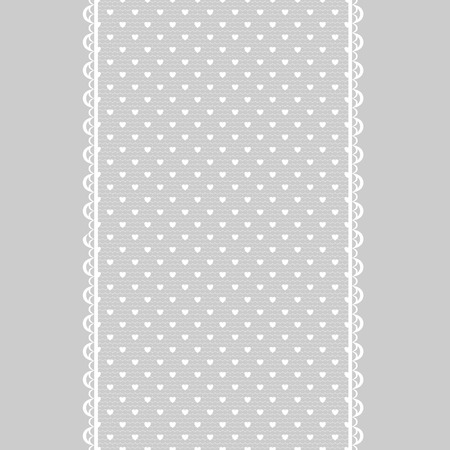 white stockings: Template for wedding, invitation or greeting card with white lace frame on gray background Illustration