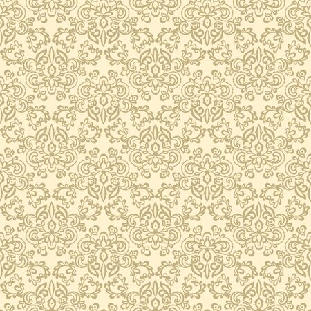 Seamless vintage damask background with floral pattern