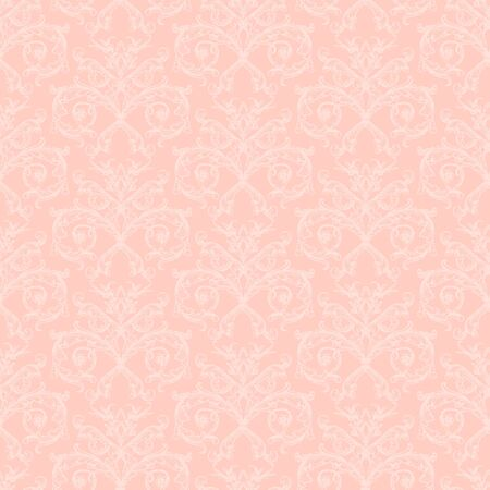 pink vintage: Pink seamless vintage pattern with damask ornament on pink background