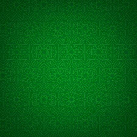 arabian: Green background with arabian geametric pattern Illustration