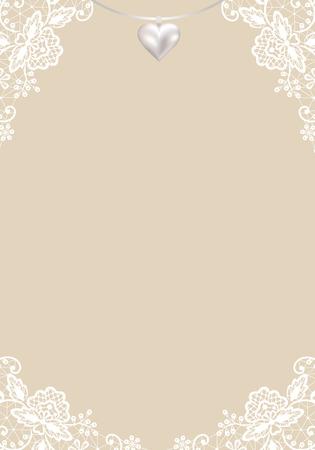 초대 또는 인사말 카드의 웨딩 템플릿 일러스트