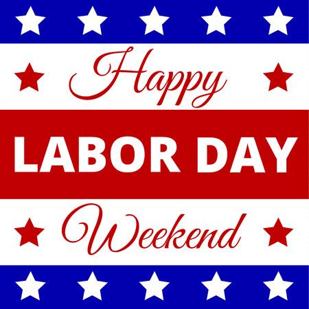 Gelukkig Dag van de Arbeid - poster voor Amerikaanse vakantie Stockfoto - 44147525