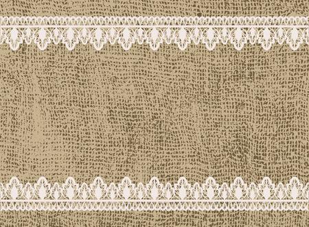 uitnodiging van het huwelijk sjabloon in rustieke stijl met kant en het ontslaan Stock Illustratie