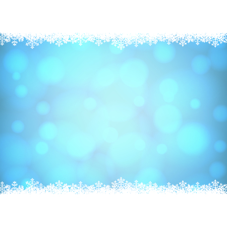border: Christmas snowflakes border with shiny golden background