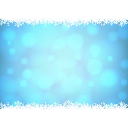 flocon de neige: No�l flocons de neige fronti�re avec fond dor� brillant