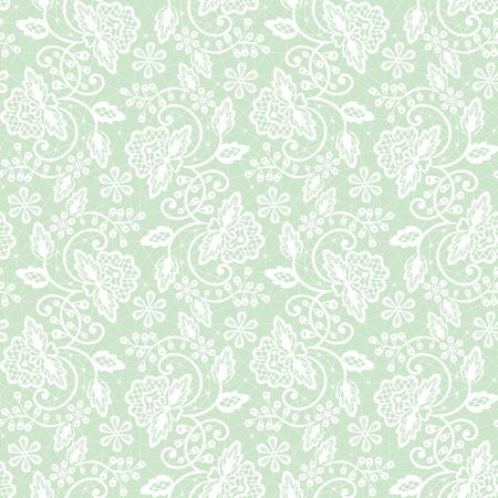 Seamless sfondo pizzo verde con motivo floreale