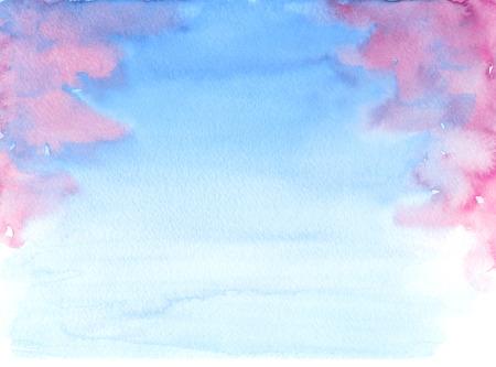 Watercolor hand-drawn blur illustration of blooming sakura