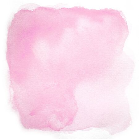 isolated spot: Pink spot hand drawn with watercolors isolated on white