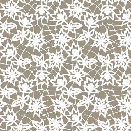 fabric patterns: Seamless white lace background with floral pattern