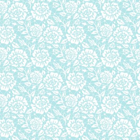 turquesa: fondo de encaje blanco transparente con estampado de flores