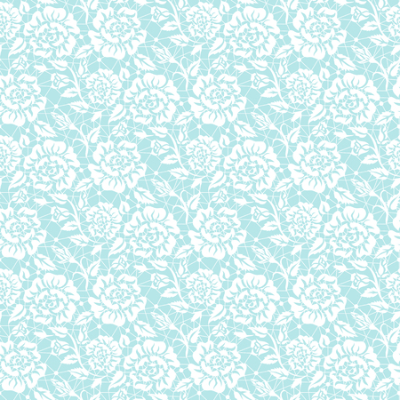 turquoise: Seamless white lace background with floral pattern