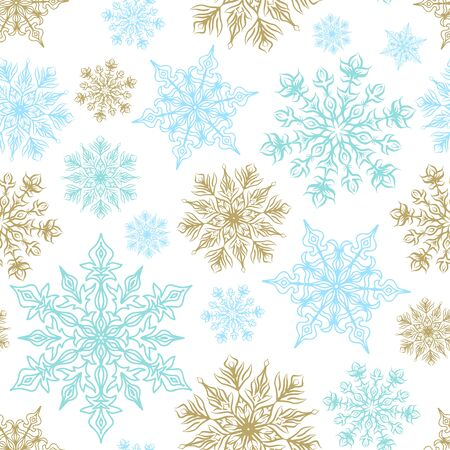 Seamless background for Christmas with snowflakes pattern