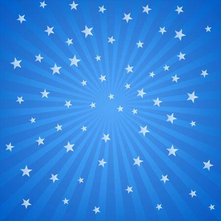 Fond bleu avec des étoiles et des rayures blanches