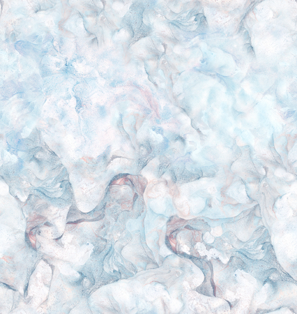 Background with marbled paper texture in blue and pink colors