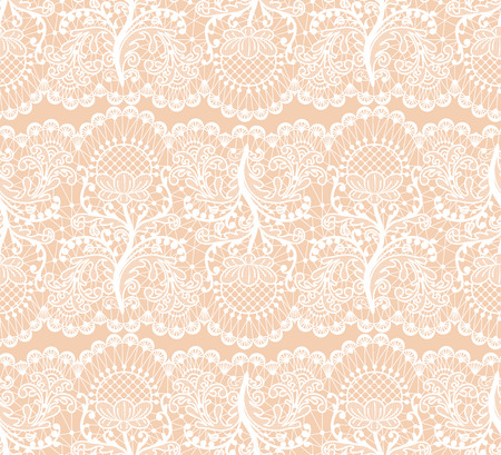 beige background: Seamless floral lace borders on beige background